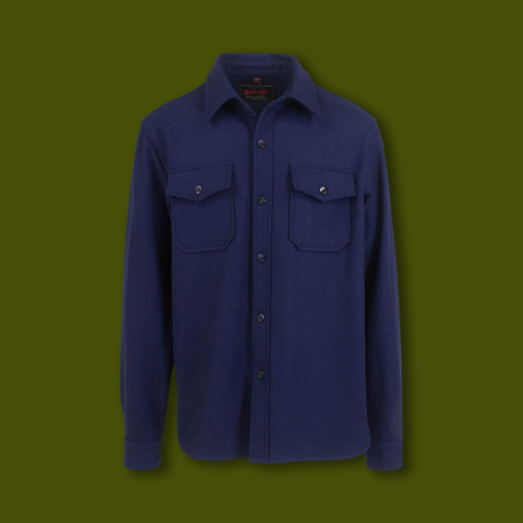 Wool CPO Shirt - Deep Blue