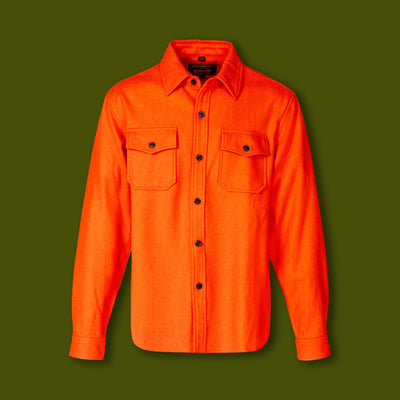 Men's Wool CPO Shirt - Orange