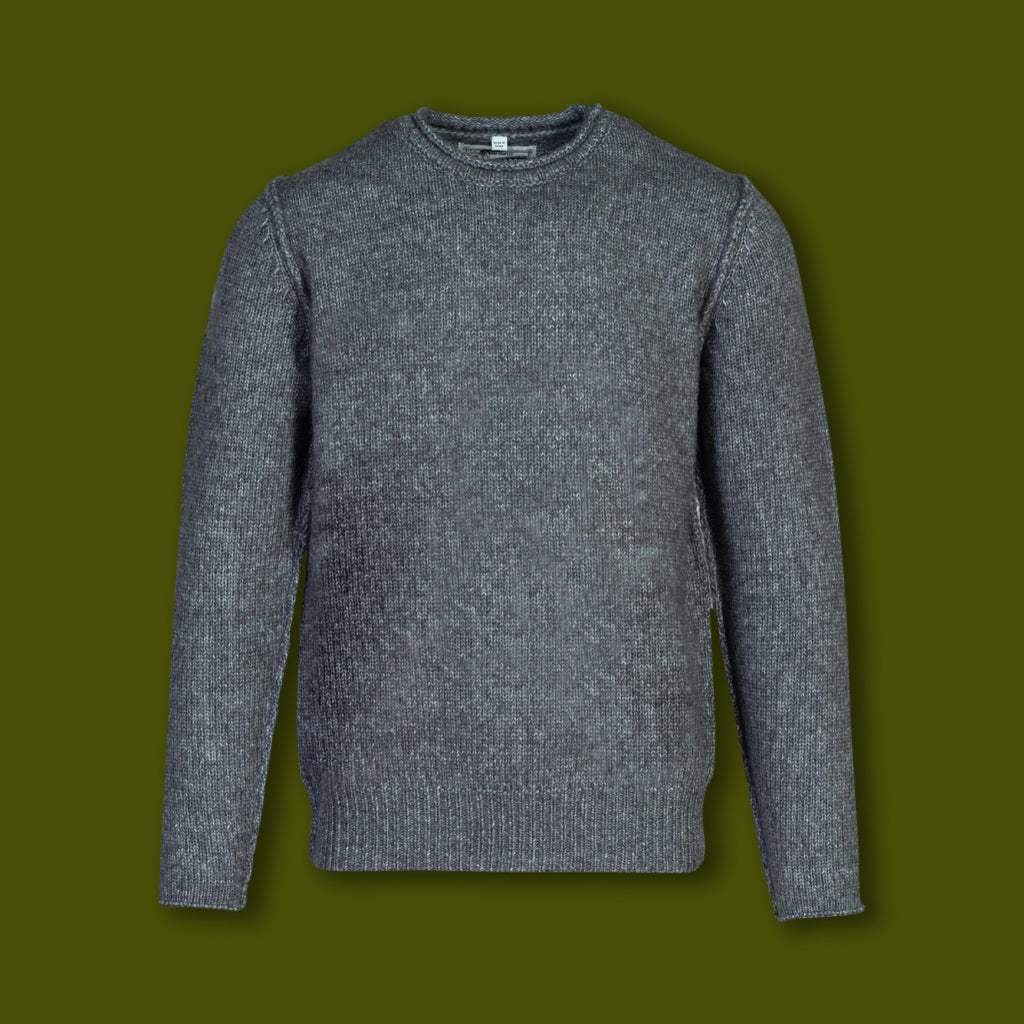 Rolled Edge Sweater - Charcoal