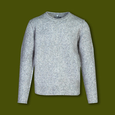 Men's Rolled Edge Sweater - Cloud Grey