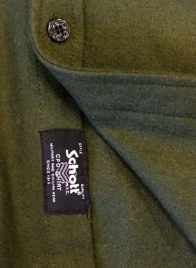 Wool CPO Shirt - Olive