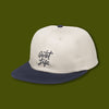 Cursive Polo Hat - Stone/Navy