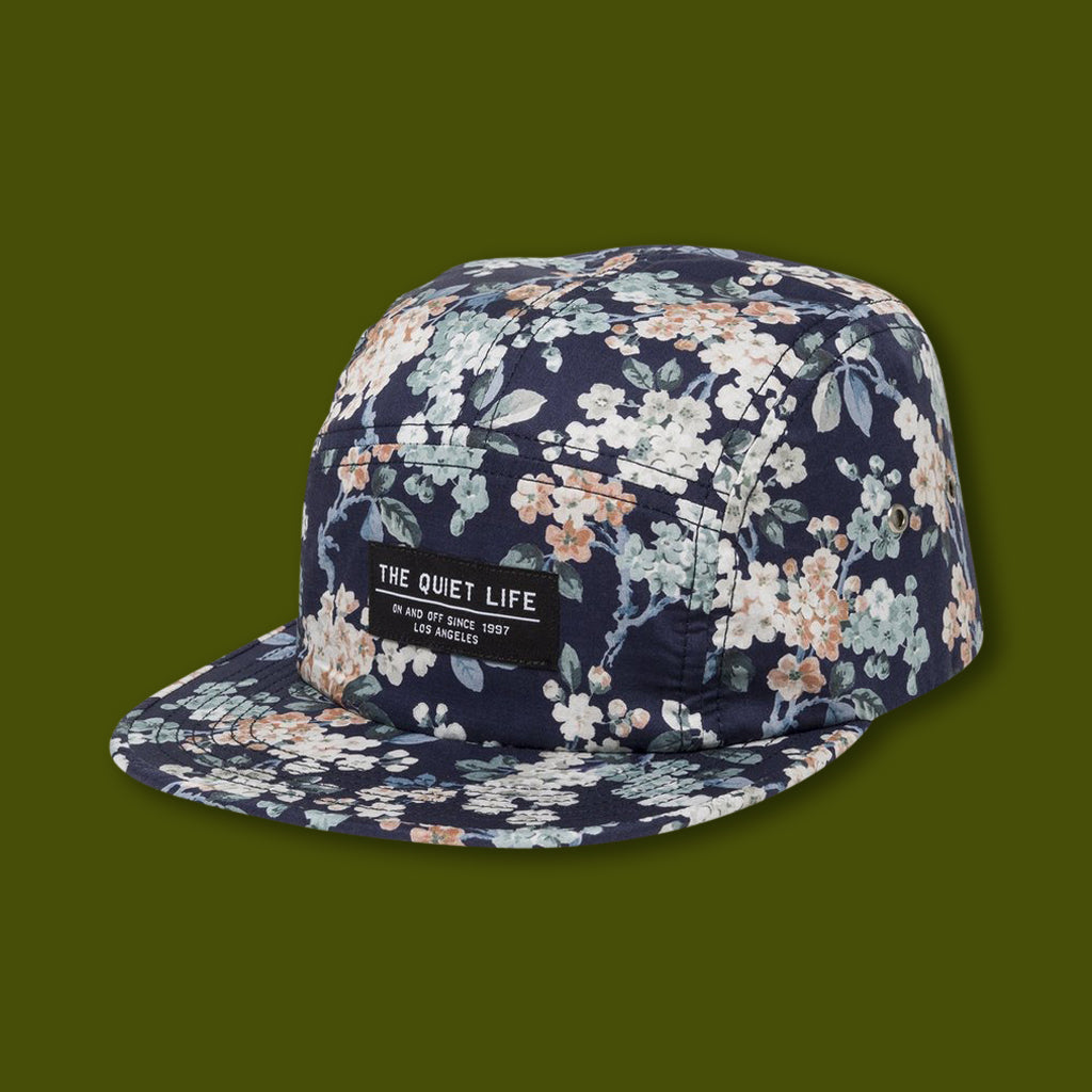 Liberty Floral 5 Panel Hat - Navy