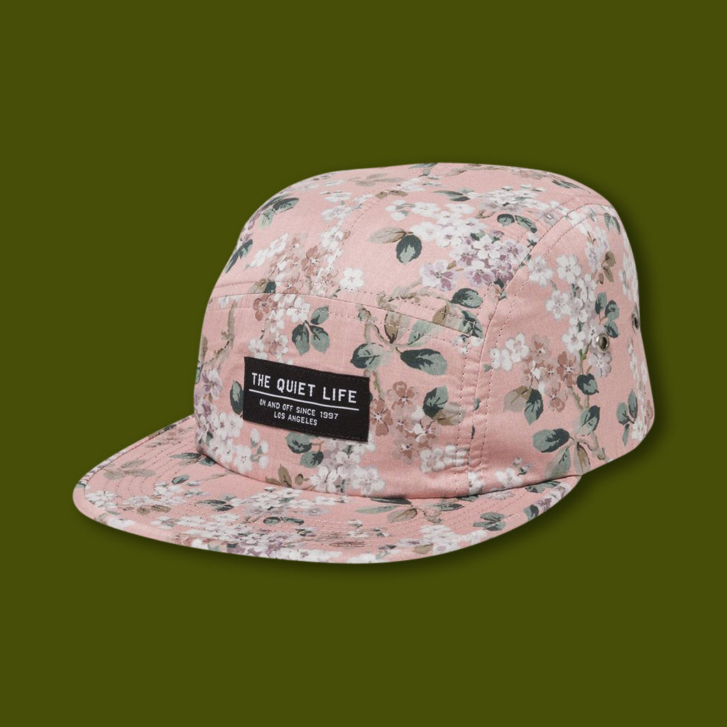Liberty Floral 5 Panel Hat - Pink