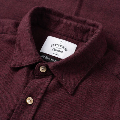 Teca Flannel Shirt - Bordeaux