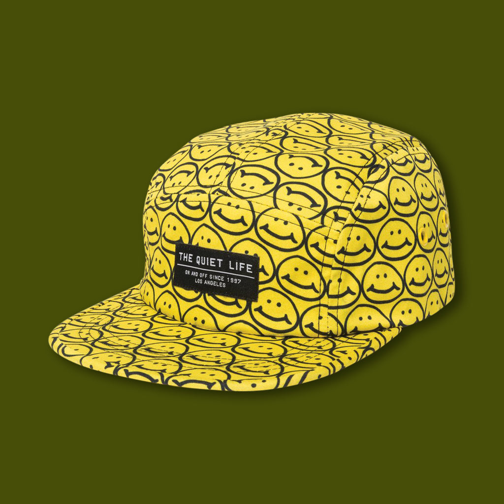 Smiley 5 Panel Camper Hat - Yellow