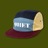 Stencil Logo 5 Panel Camper Hat - Red/Slate/Navy