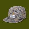 Paisley 5 Panel Camper Hat - Blue