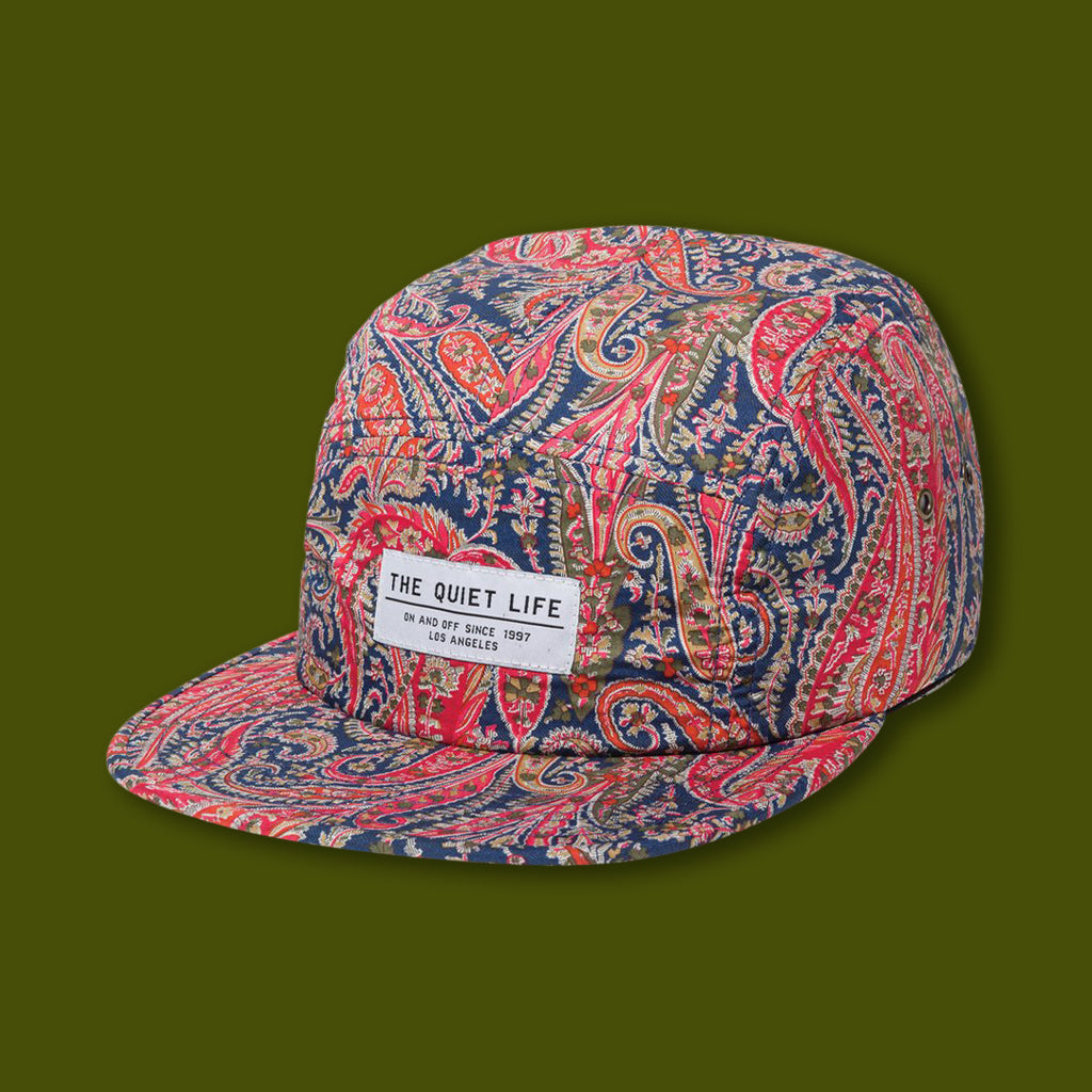 Paisley 5 Panel Camper Hat - Red