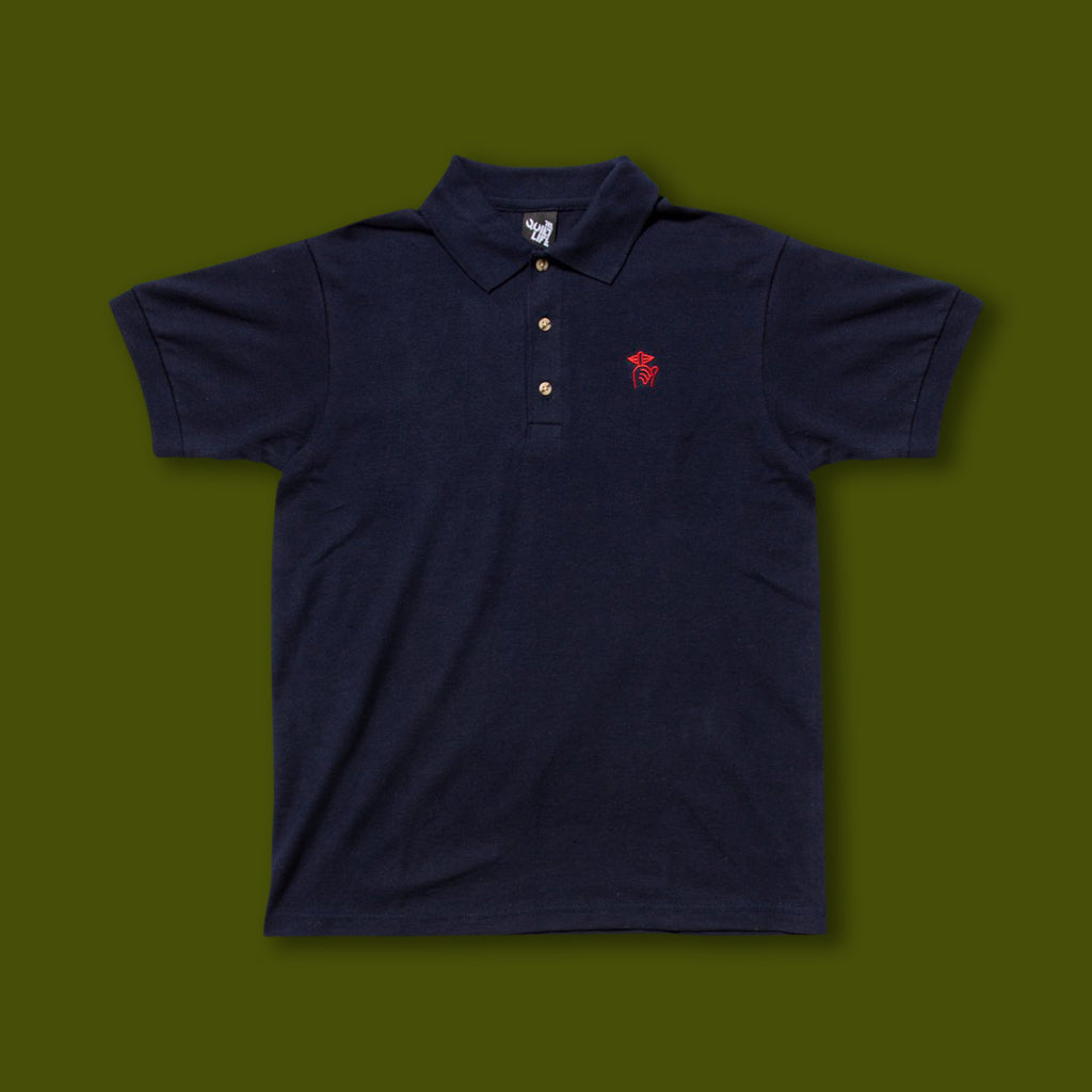 Shhh Polo Shirt - Navy