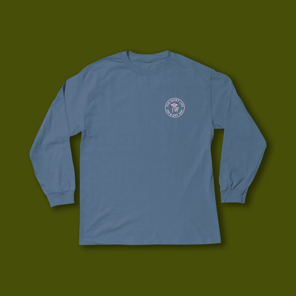 Shhh Circle Long Sleeve Tee - Slate