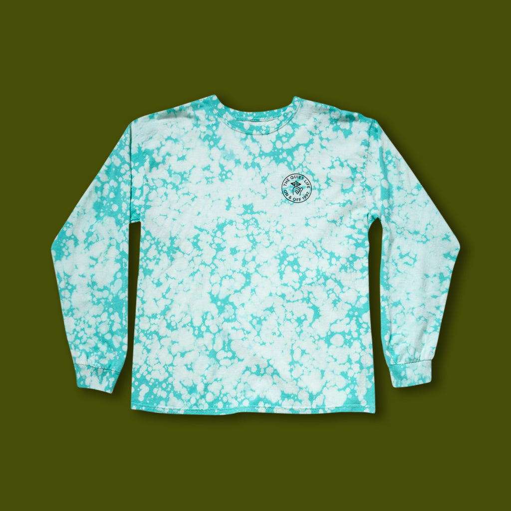 Shhh Circle Long Sleeve Tee - Green Wash
