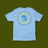 Shhh Circle Tee Premium - Light Blue
