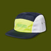 Ranier 5 Panel Camper Hat - Navy / Yellow / White