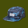 Camo 5 Panel Camper Hat - Blue