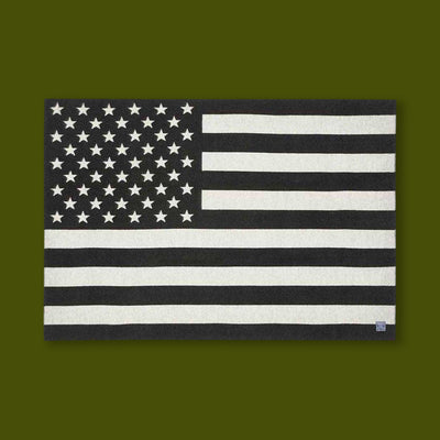 Flag Blanket - Black & Grey