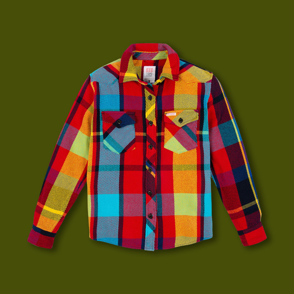 Women's Heavy Mountain Shirt - Mustard & Red Plaid