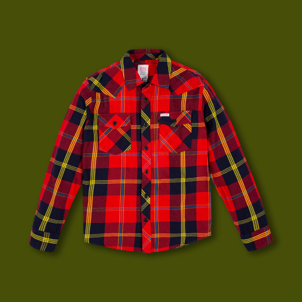 Mountain Shirt - Red & Navy Plaid
