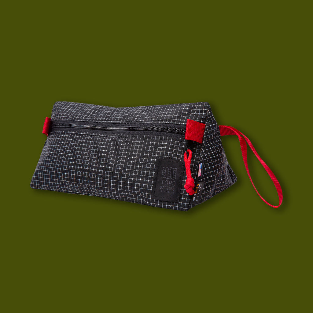 Triangle Dopp Kit - Black Grid