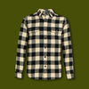 Oxbow Bend Plaid Flannel Shirt - Black & White