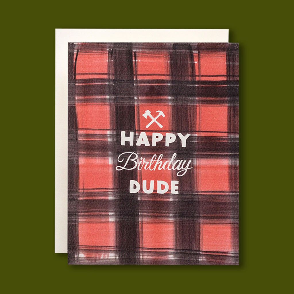 Buffalo Plaid Birthday Card
