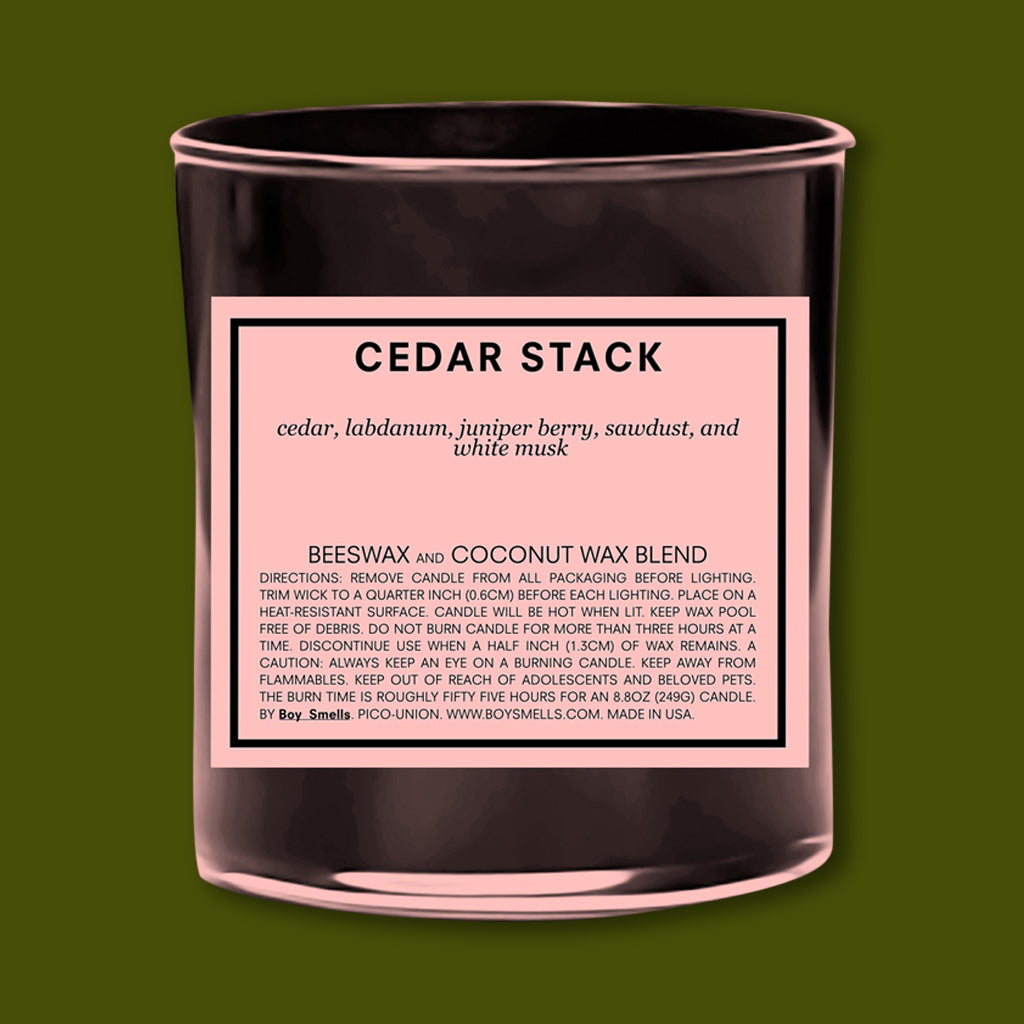 Boy Smells Cedar Stack Candle