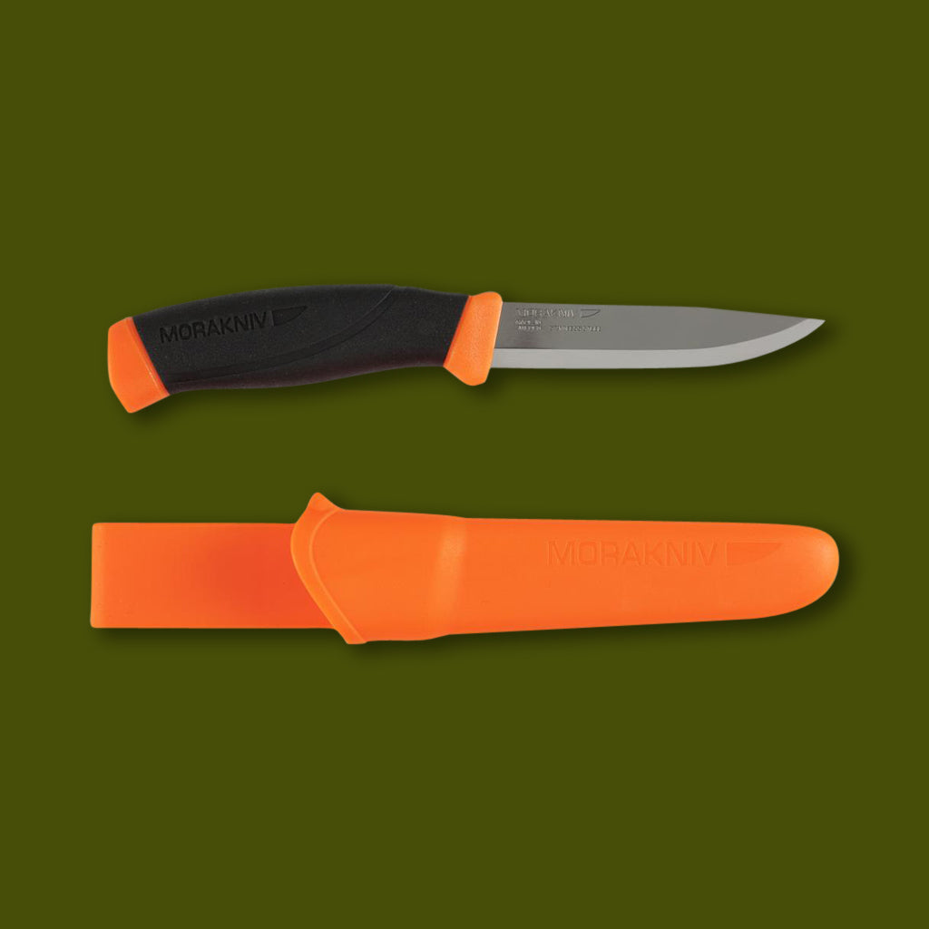 Morakniv Stainless Steel Companion knife in orange