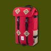 Klettersack Pack - Red & Khaki Leather