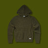 Across Knit Sweater Hoodie - Utility Green