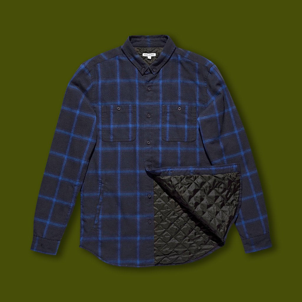 Momentum Long Sleeve Shirt - Blue Plaid