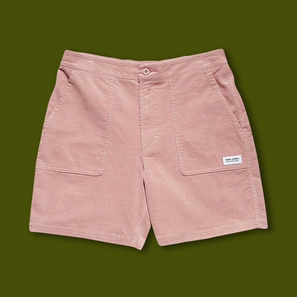 Big Bear Cord Walkshorts - Mauve