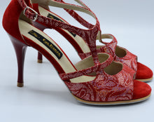 Red tango shoes, Handmade Women Dance Shoe, Suede Sole, Leather, Handmade Tango Shoes. Milano Tango.
