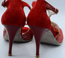 Red tango shoes, Women Dance Shoe, Suede Sole,  Milano Tango,women tango shoes