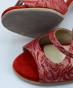 Handmade Women Dance Shoe, Suede Sole, Leather, Handmade Tango Shoes. Milano Tango.