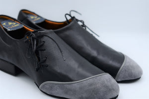 Split sole tango shoes.Men Dance Shoes. Men Tango Shoes. Handmade Tango Shoes. Black and Gray tango shoes. Elvis.Black tango shoes.gray tango shoes