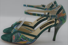 Argentine tango shoes,Green tango shoes, green dance shoes, women tango shoes, women dance shoes
