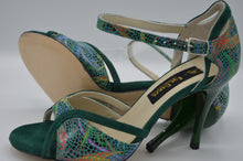 Green tango shoes, green dance shoes, women tango shoes, women dance shoes
