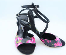 Flower tango shoes, Handmade Women Dance Shoes, Italian Tango Shoes,Bridal shoes,wedding shoes, reception shoes