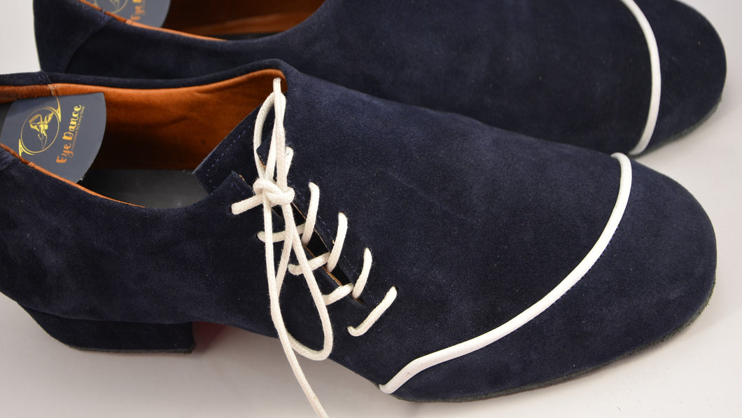 Men Dance Shoes. Men Tango Shoes. Handmade Tango Shoes. Navy Blue Suede. Elvis