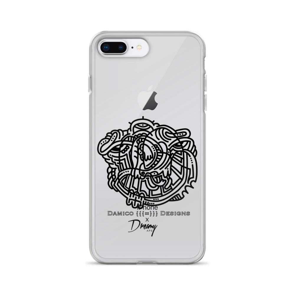 Interconnected Love & Happiness Black Damico Designs x Dreamy Ape iPhone Case - Dreamy Ape