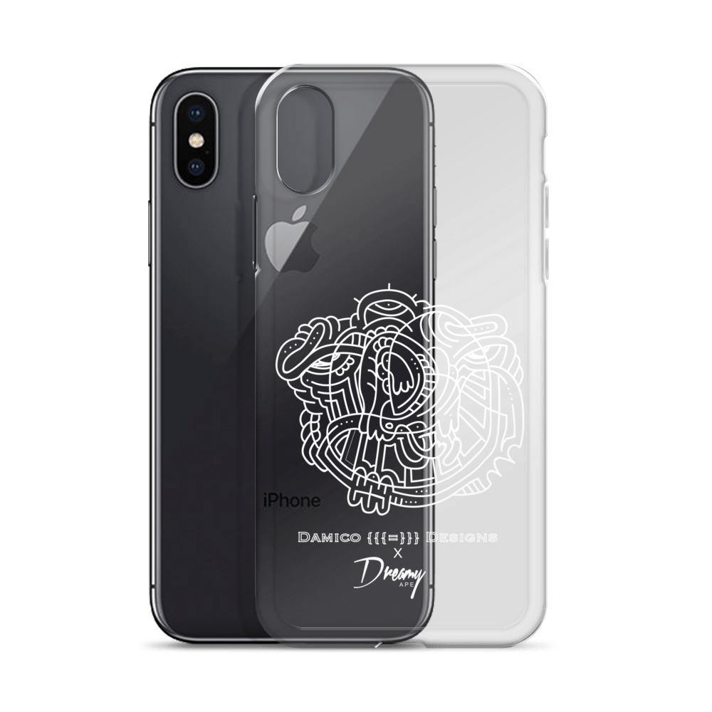 Interconnected Love & Happiness White Damico Designs x Dreamy Ape iPhone Case - Dreamy Ape