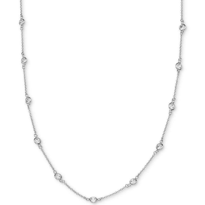 CZ Station Long Necklace - SLVR New York