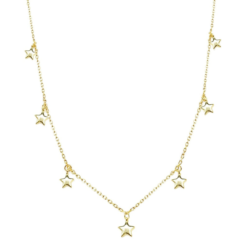 Falling Stars II Dainty Necklace - SLVR New York Gold