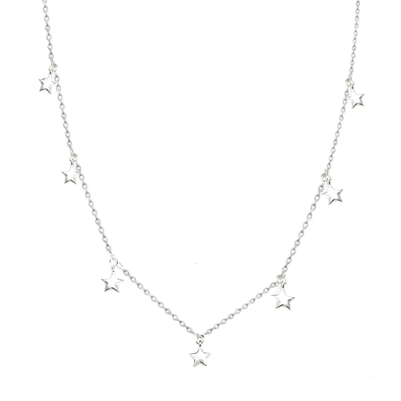Falling Stars II Dainty Necklace - SLVR New York Silver