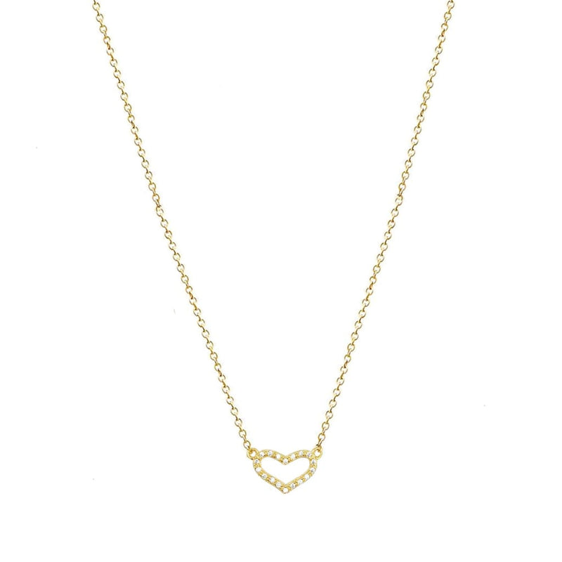 Heart Pendant Necklace - SLVR New York Gold