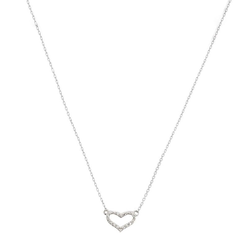 Heart Pendant Necklace - SLVR New York Silver