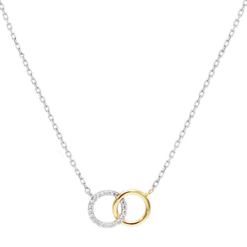 Interlocking Circles Pendant Necklace - SLVR New York