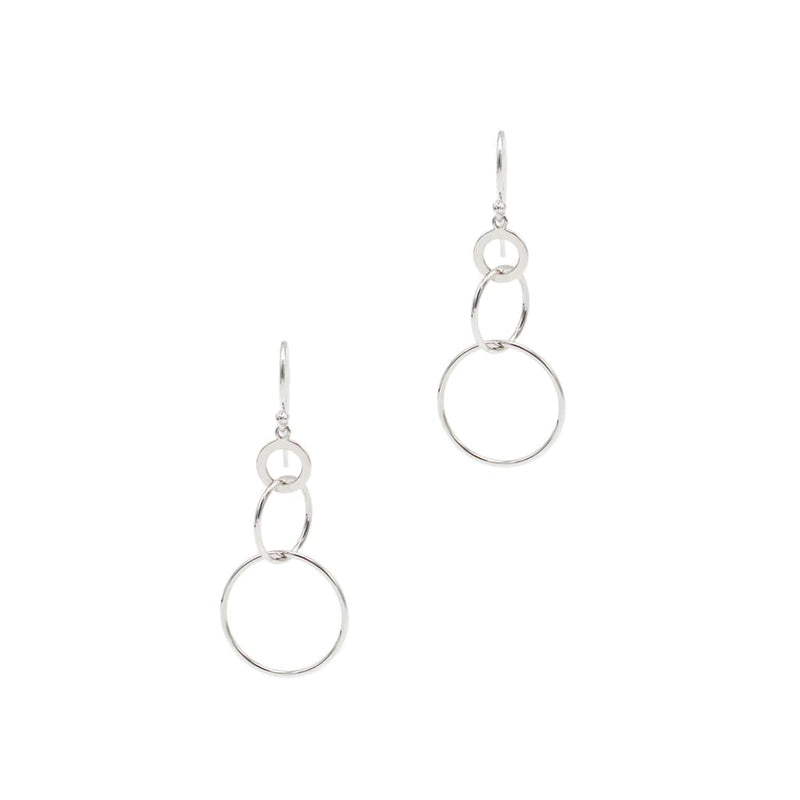 Intersect Circle Earrings in Sterling Silver - SLVR New York Silver / Earring