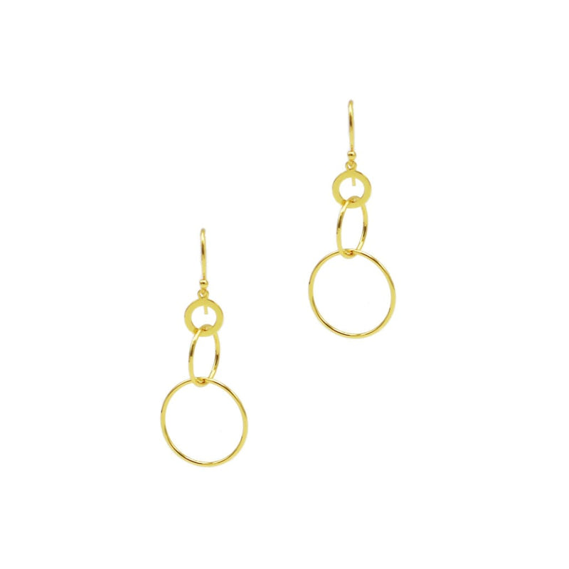 Intersect Circle Earrings in Sterling Silver - SLVR New York Gold / Earring