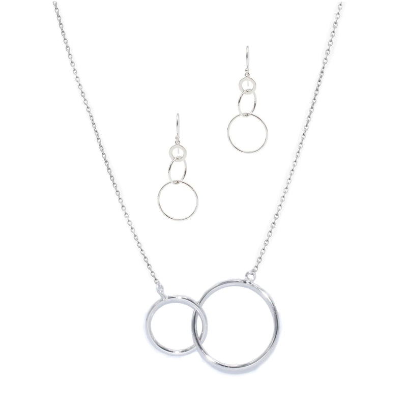 Intersect Circle Earrings in Sterling Silver - SLVR New York Silver / SET
